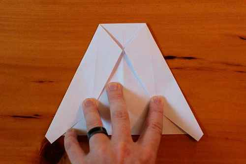 Как сделать из бумаги самолётик Хаммер - Шаг 7