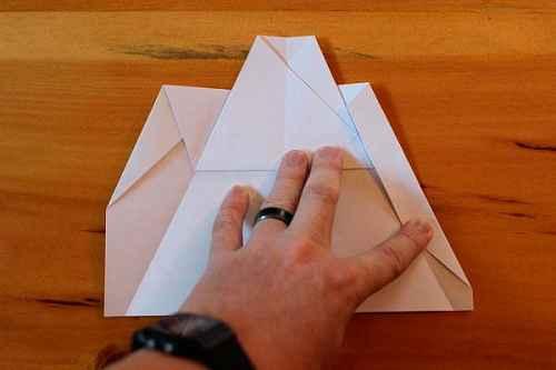 Как сделать из бумаги самолётик Хаммер - Шаг 10.1