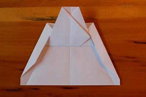 Как сделать из бумаги самолётик Хаммер - Шаг 10.2