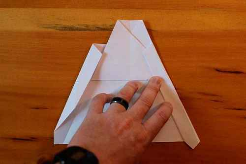 Как сделать из бумаги самолётик Хаммер - Шаг 11.1