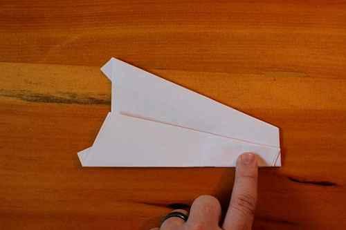 Как сделать из бумаги самолётик Хаммер - Шаг 14.1