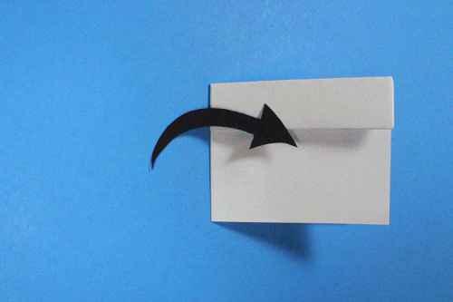 Как сделать из бумаги самолётик Шпион - Шаг 8.2