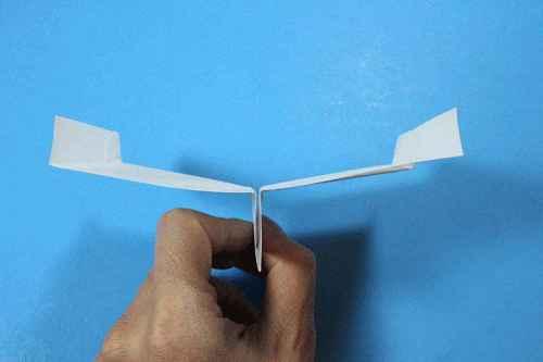 Как сделать из бумаги самолётик Шпион - Шаг 16