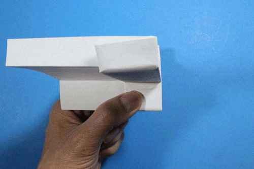 Как сделать из бумаги самолётик Шпион - Шаг 17.1