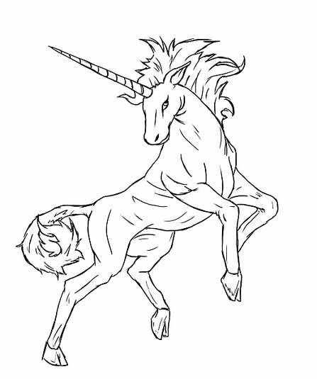 Как нарисовать единорога карандашом - Сотрите вспомогательные линии.