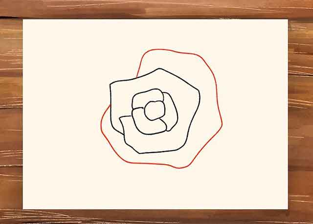 Как нарисовать розу поэтапно - Каждая последующая линия должна как бы обхватывать предыдущую
