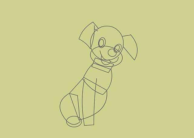 Как нарисовать мультяшного щенка - это будет передняя нога.