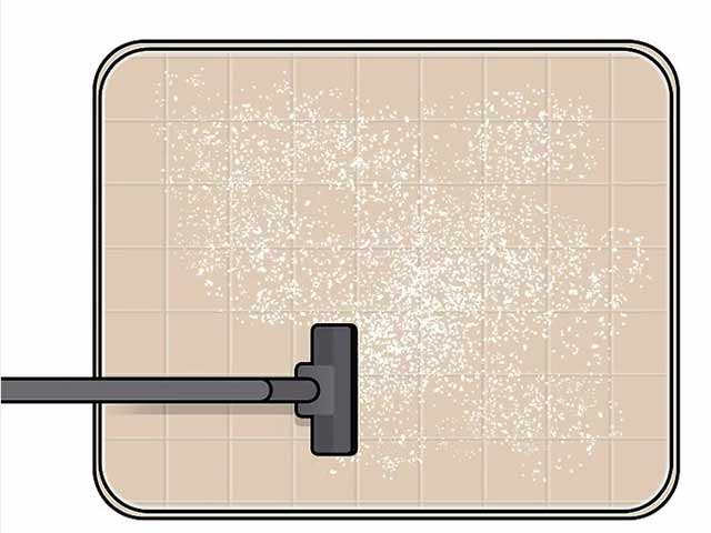 Пропылесосьте матрас, чтобы полностью удалить соду.