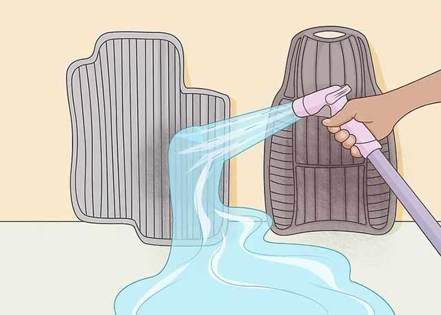 Как пользоваться автомойкой самообслуживания - Не забывайте о ковриках.