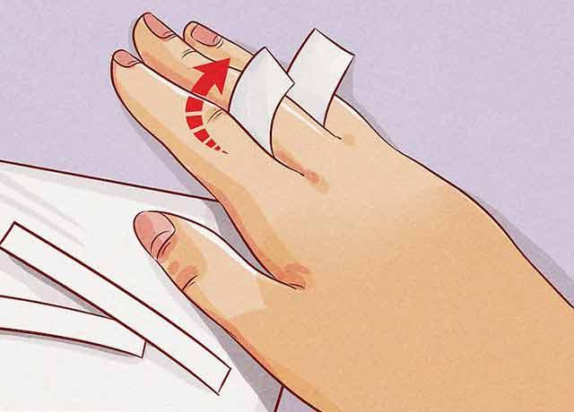 Как узнать размер кольца на палец - Оберните полоску бумаги вокруг самой широкой части пальца.