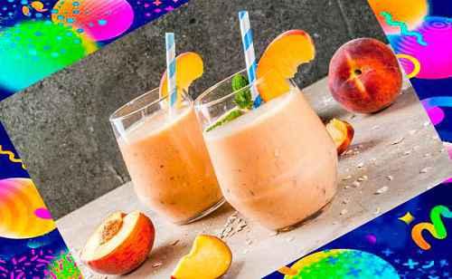 Персиково-банановый овсяный коктейль