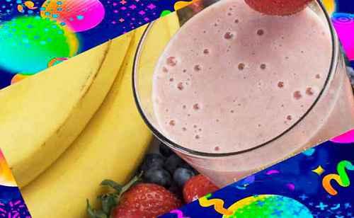 Бананово - ягодный смузи