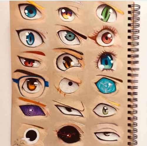 Глаза отражает разные, хотя и глубокие эмоции