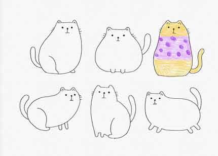 Скетч 6 котов