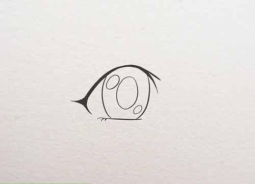 Нарисуйте контур глаза, определив его форму