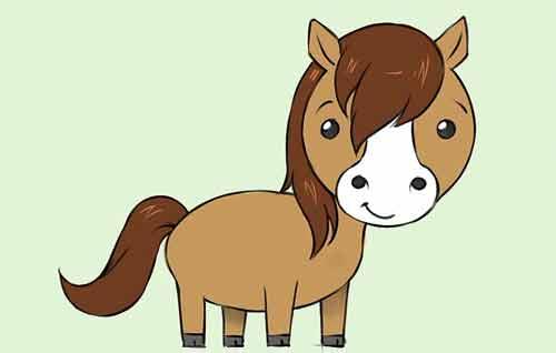 Рисуем мультяшную лошадку поэтапно карандашом 11