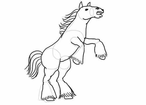 Как нарисовать коня карандашом 10
