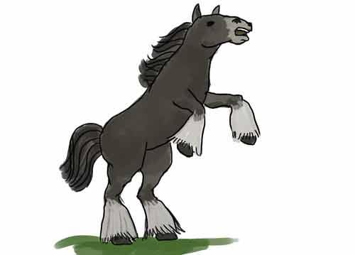 Как нарисовать коня карандашом начинающему 12