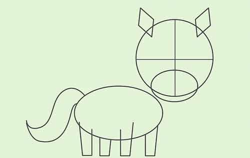 Как нарисовать мультяшную лошадку поэтапно 5