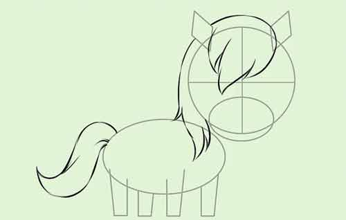 Как нарисовать мультяшную лошадку поэтапно 6