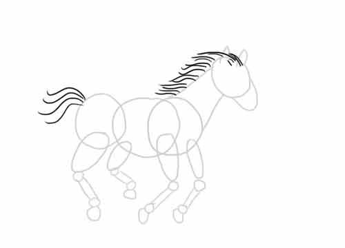 Как нарисовать лошадь легко и просто начинающему 8
