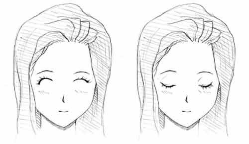 Изгиб закрытых глаз аниме влияет на эмоции