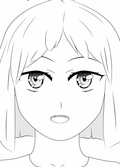 Как рисовать аниме глаза для начинающих поэтапно