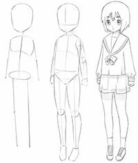 Как нарисовать девочку аниме для начинающих карандашом