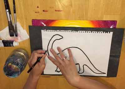 Картина с динозавром 10