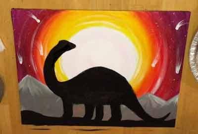 Картина с динозавром 11