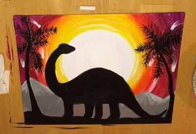 Картина с динозавром 12