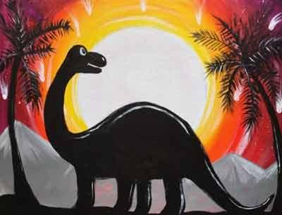 Картина с динозавром