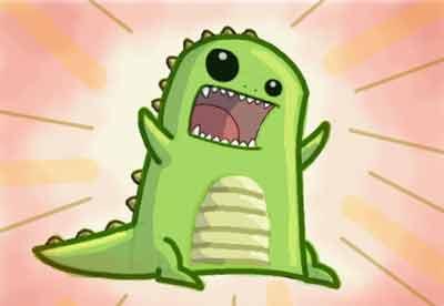 Динозавр в стиле кавай