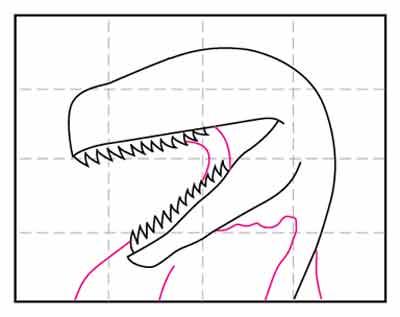 Голова динозавра 6
