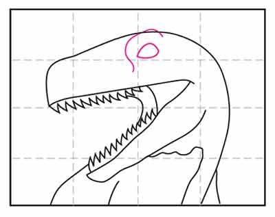 Голова динозавра 7