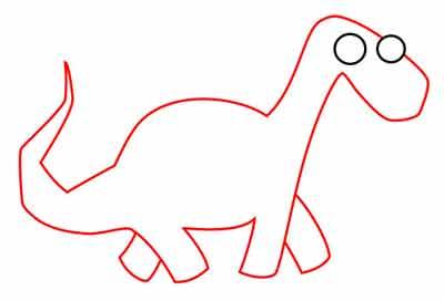 Мультяшный динозавр 5