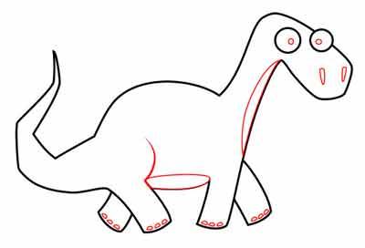 Мультяшный динозавр 6