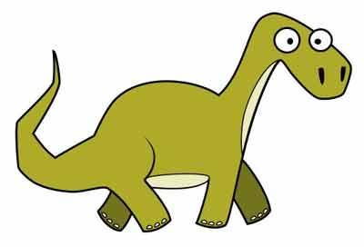 Мультяшный динозавр 7
