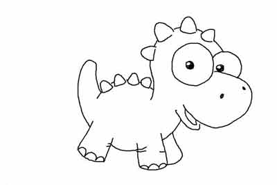 Маленький динозаврик 12