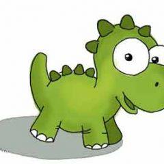 Как нарисовать динозавра легко