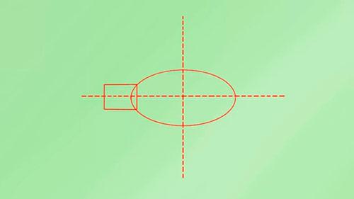 Как легко нарисовать реалистичную рыбку - Шаг 1