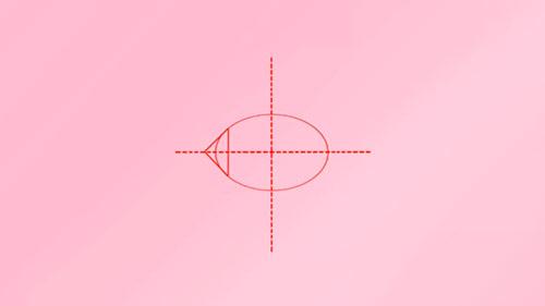Как легко нарисовать мультяшную рыбку - Шаг 1