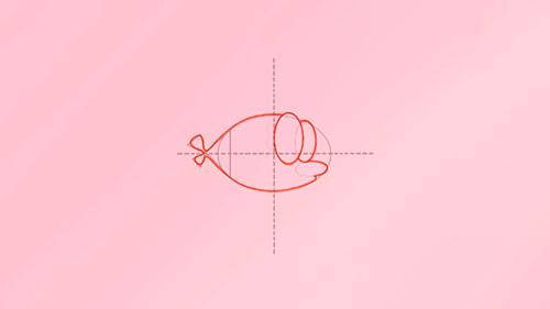 Как легко нарисовать мультяшную рыбку - Шаг 4