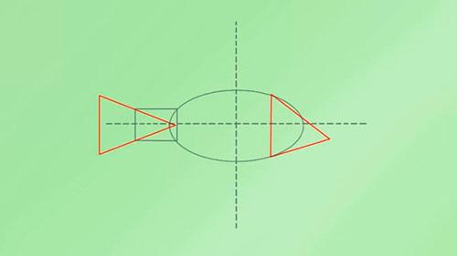 Как легко нарисовать реалистичную рыбку - Шаг 2