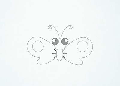 Как нарисовать мультяшную бабочку - Шаг 10