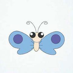 Как нарисовать бабочку поэтапно карандашом для начинающих