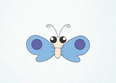 Как нарисовать мультяшную бабочку - Шаг 11