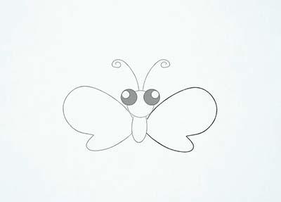 Как нарисовать мультяшную бабочку - Шаг 8