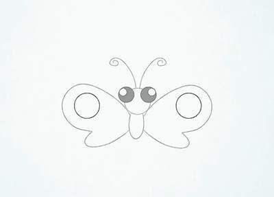 Как нарисовать мультяшную бабочку - Шаг 9