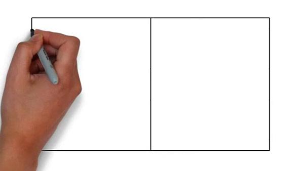 Как нарисовать баскетбольную площадку - Шаг 2